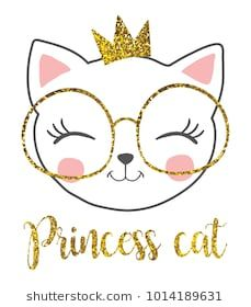 cute princess cat with a glitter crown. cute princess cat with a glitter crown. Glitter Girl, Glitter Uggs, Glitter Heels, Kitty Party, Cute Princess, Cat Birthday, Cat Drawing, Cute Cats, Illustration