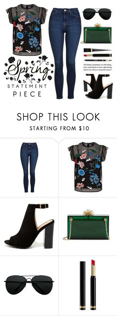 """""""Spring Statement Piece"""" by latoyacl ❤ liked on Polyvore featuring Topshop, Markus Lupfer, LULUS, Charlotte Olympia, Christian Louboutin and Gucci"""
