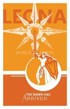 Leona: Liga de impresión leyendas por pharafax en Etsy