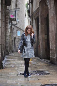 www.fashionstylistka.com Biker jacket @ Barcelona