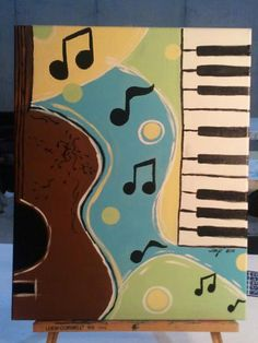 Music is Art Too   16x20 Acrylic on Canvas by InspiredImagesIndy, $37.00