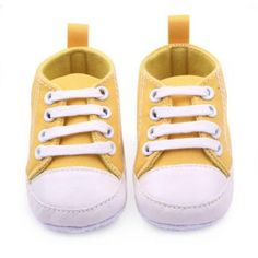 12 Colors Infant Toddler Canvas Sneakers Baby Boy Girl Soft Sole Crib Shoes We offers a wide selection of trendy style women's clothing. Affordable prices on new tops, dresses, outerwear and more. Baby Sneakers, Girls Sneakers, Girls Shoes, Canvas Sneakers, Shoes Sneakers, Toddler Girl Shoes, Baby Boy Shoes, Slip Shoes, Tenis Star