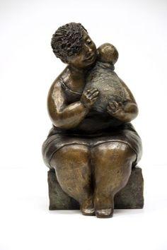 """""""Mère et enfant sur épaule"""" by artist Rose-Aimée Bélanger at Galerie Saint-Dizier"""