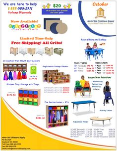 Honor Roll Childcare Supply - Current Flyer and Specials Classroom Carpets, Preschool Supplies, Back To School Special, Preschool Furniture, Pillow Crafts, Home Daycare, Sale Flyer, Resin Table, Honor Roll
