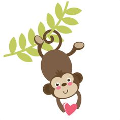 Monkey On Vine SVG file free svgs free svg cuts cute svgs for scrapbooking cardmaking paper crafts