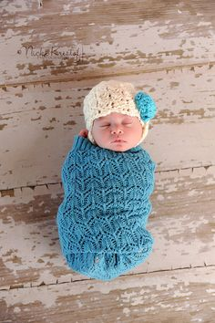 Crochet Newborn Photography Prop Baby Girl hat Lacey by giggalz