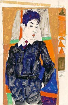 Portrait of Erich Lederer, Egon Schiele: