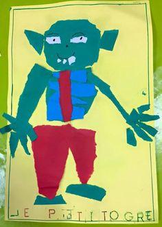 le petit ogre papier déchiré, la maternelle de Wendy