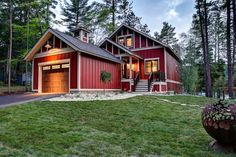 Red Exterior Paint Color. The house siding and trim are LP SmartSide Siding products. The siding color is called Tile Red and the trim color is a custom match from a Kolbe window color swatch called Natural Cotton. BAC Design Group