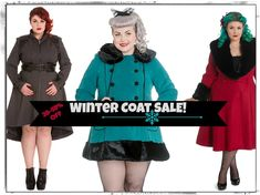 We are having a Coat Sale!  #Sale #PlusSize #HellBunny  -  Plus Sizes. Winter Coats | vintage dresses | Pin Up | Retro | 50s Fashion | Hell Bunny