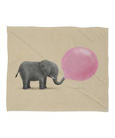 Jumbo Bubble Gum Fleece Throw Blanket