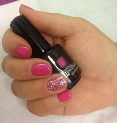 Jessica GELeration Pink Cadillac with Fairy Tale on the ring finger. Created by The Beauty Spot, Altrincham.