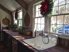 Kitchen in designer Lisa Hilderbrand's antique Connecticut house