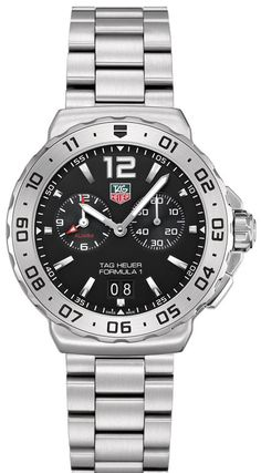WAU111A.BA0858   NEW TAG HEUER FORMULA ONE F-1 MENS QUARTZ WATCH IN STOCK - Guaranteed Christmas Delivery - Hassle free returns thru Jan 31st   - FREE Overnight Shipping | Lowest Price Guaranteed    - NO SALES TAX (Outside California)- WITH MANUFACTURER SERIAL NUMBERS - Black Dial - Date Feature - Alarm Feature - Battery Operated Quartz Movement- 3 Year Warranty - Guaranteed Authentic  - Certificate of Authenticity- Polished with Brushed Steel Case