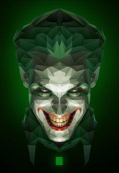Why So Serious? (Joker Low Poly) by floridelsalamat.deviantart.com on @DeviantArt