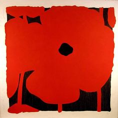 Donald Sultan, Red Flowers, 2003