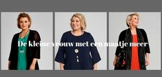 Kleding voor kleine vrouw met maatje meer/ grote maat   Style Consulting Curvy, Plus Size, Blazer, Lifestyle, Elegant, Womens Fashion, Sweaters, Outfits, Cloakroom Basin