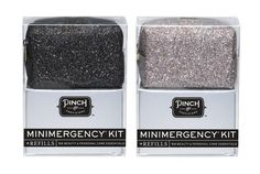 Glitter Minimergency Kit + Refills from Pinch Provisions. Set contains an amazing 52 pieces so you can use and refill your favorite mini survival kit!