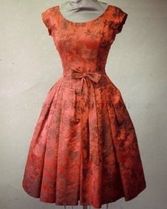 Satin brocade cocktail dress, 1959