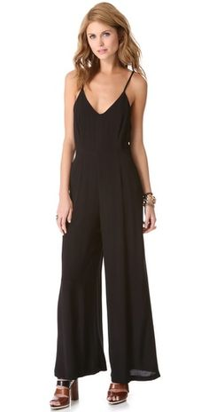 {Line & Dot Deep V Jumpsuit} Ah the power of being able to pull off a jumpsuit.