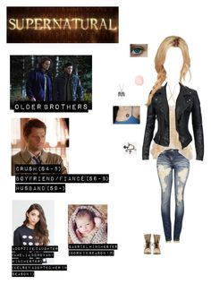 """Me in """"Supernatural"""" (Read the d! Teenager Outfits, Outfits For Teens, Girl Outfits, Cute Outfits, Tv Show Outfits, Fandom Outfits, Supernatural Inspired Outfits, Avengers Outfits, Character Inspired Outfits"""