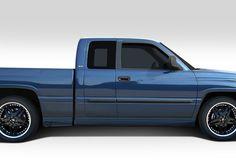 1994-2001 Dodge Ram Extended Cab Duraflex BT-1 Side Skirt Rocker Panels - 4 Piece