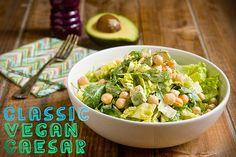 Classic Vegan Caesar With Avocado & Chickpeas | Post Punk Kitchen | Vegan Baking & Vegan Cooking