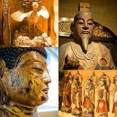 Différentes œuvres visibles au Panthéon bouddhique, annexe du musée Guimet située au 19 avenue d'Iéna 75116 Paris