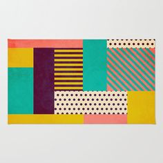 Fresh From The Dairy: End-of-Year-Faves - Design Milk Textures Patterns, Color Patterns, Quilt Patterns, Planer Layout, Textiles, Geometric Rug, Contemporary Rugs, Colorful Rugs, Rugs On Carpet