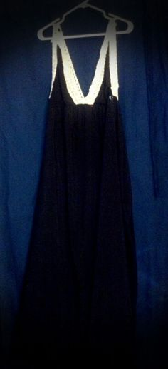 Shabby liquid leather maxi dress with vintage lace trim