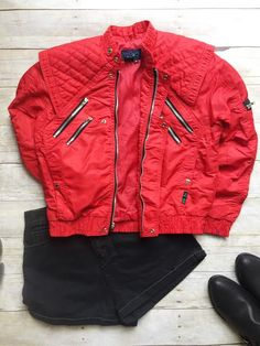 80's Jacket-Red. HEY I HAD THAT LOL