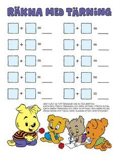 Siffror – Bamse.se Motor Activities, Preschool Activities, Kindergarten Math, Teaching Math, Toddler Arts And Crafts, Baby Barn, Math School, Homeschool Math, Math For Kids
