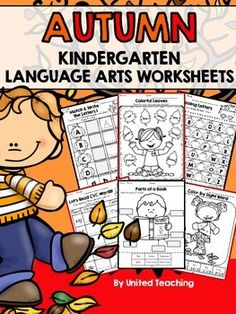 The Autumn Kindergarten No Prep Language Arts Worksheets packet is filled with fun and engaging language arts worksheets. This packet is designed for Kindergarten students.