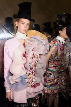 Viktor & Rolf at Couture Fall 2016 - Backstage Runway Photos