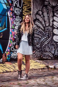 TENDÊNCIA - METALIZADOS - Juliana Parisi - Blog Mariah Bernardes, Look Fashion, Ideias Fashion, Punk, Shirt Dress, Blog, Outfits, Beauty, Dresses