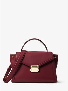 c3354afdee4a Whitney Medium Leather Satchel  298 Branded Bags