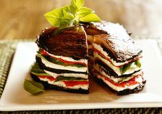 Portobella Macadamia Nut Ricotta Cheese Tomato and Basil Tower... wow! Part of Ethical Ocean's Vegan Recipe Challenge! #recipe #vegan | www.lovesweetfreedom.co.uk