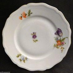 Johann Haviland Bavaria E 74/5 Bread Plate, Chippendale Floral Gold Trim #2 #JohannHaviland