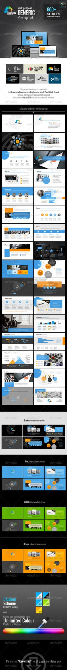 28 best powerpoint templates images on pinterest business raiqah multipurpose generic template business powerpoint templates toneelgroepblik Images