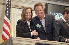 Genie and Kin, celebrating GH's 50th at the NYSE
