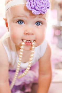 Oh goodness.. I can't wait for her to play with my pearls while I anxiously watch