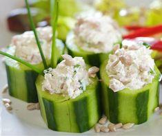 Tuna Salad-Stuffed Cucumber