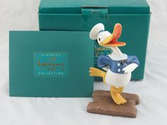 """WDCC """"Donald's Debut"""" Donald Duck from Disney's The Wise Little Hen in Box COA by LovelyTeaCupsandMore on Etsy"""