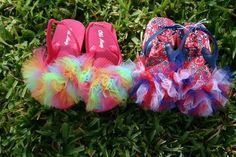 Tulle Flip Flops: