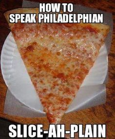 """Learn how to speak Philadelphian with our easy guide, and you'll be saying """"Let's hit Senner Siddy. I'm dying for a slice-ah-plain and wooder ice"""" before you know it! Philly Pa, Philly Food, Philly Style, South Philly, Historic Philadelphia, Philadelphia Eagles, Taste Of Philly, Keystone State, Brotherly Love"""