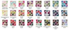 Le fil mouliné COLORIS DMC est décliné en 24 couleurs.Chaque fil raconte l'histoire d'une fleur, évoque de grands espaces naturels, ou encore invite à une promenade citadine.