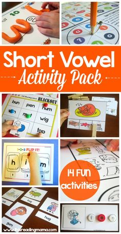 Short Vowel Activity Pack ~ 14 FUN activities for learning to read and spell short vowel words | This Reading Mama