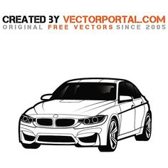 7 Awesome Bmw Car Silhouette Vector Images
