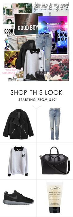 """""""▬I'M A GOOD BOY▬"""" by hanna-clothes ❤ liked on Polyvore featuring Band of Outsiders, Whistles, Givenchy, NIKE, philosophy, GUESS, bigbang, comeback, taeyang and yg"""