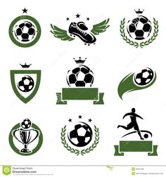 Football And Soccer Labels And Icons Set. Vector - Download From Over 27 Million High Quality Stock Photos, Images, Vectors. Sign up for FREE today. Image: 35567466
